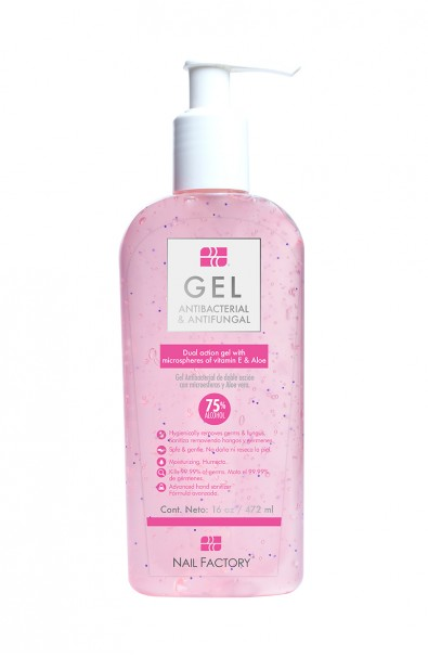 GEL ANTI BACTERIAL NAIL FACTORY 16 OZ